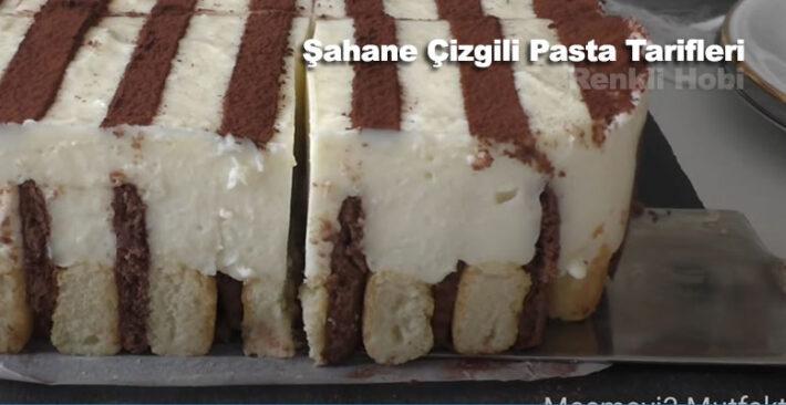 Şahane Çizgili Pasta Tarifleri