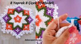 8 Yaprak 8 Çiçek Lif Modeli 1