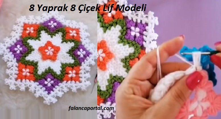 8 Yaprak 8 Çiçek Lif Modeli