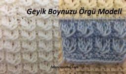 Geyik Boynuzu Orgu Modeli 1