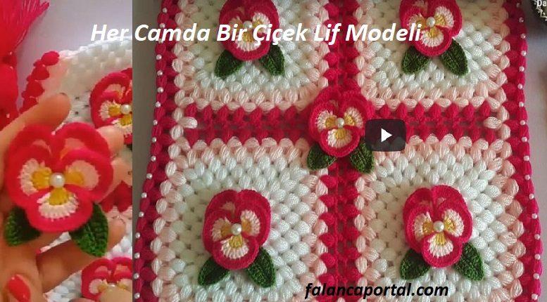 Her Camda Bir Çiçek Lif Modeli