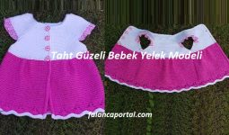 Taht Güzeli Bebek Yelek Modeli 1