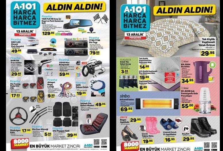 13 Aralık A101 Aktüel Ürünleri