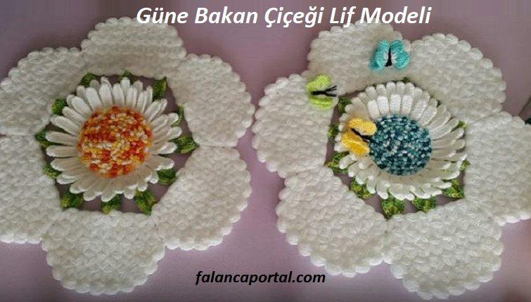 Güne Bakan Çiçeği Lif Modeli 1
