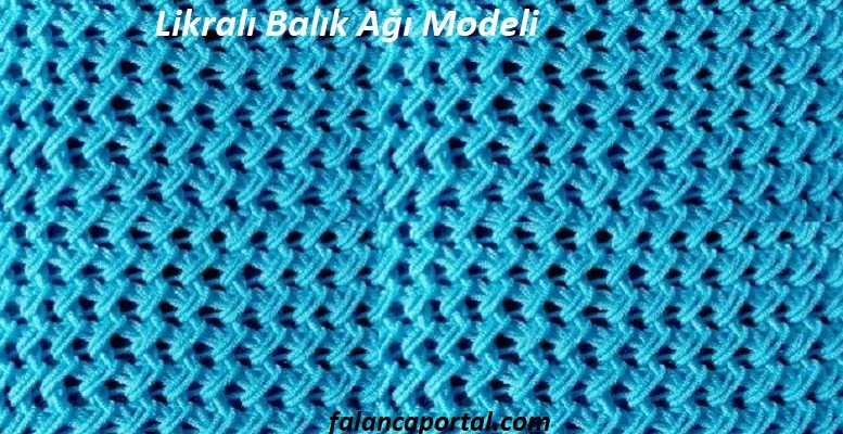 Likralı Balık Ağı Modeli 1
