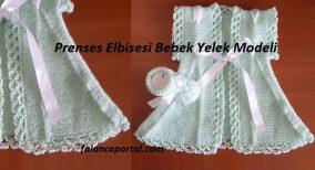 Prenses Elbisesi Bebek Yelek Modeli