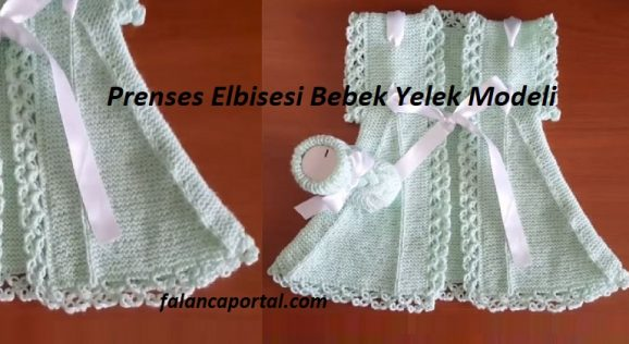 Prenses Elbisesi Bebek Yelek Modeli 1