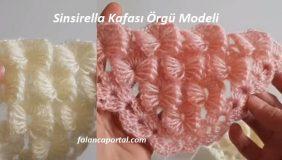 Sinsirella Kafası Örgü Modeli 1