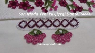 Son Moda Yeni Yıl Çiçeği Dantel Modeli