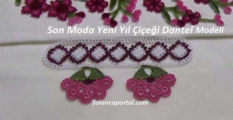 Son Moda Yeni Yıl Çiçeği Dantel Modeli 1