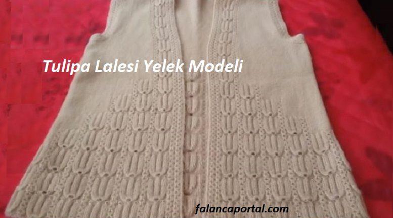 Tulipa Lalesi Yelek Modeli