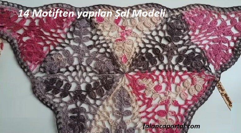 14 Motiften yapılan Şal Modeli