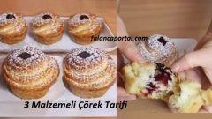 3 Malzemeli Çörek Tarifi