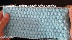 Burçak Tarlası Bebek Yelek Modeli