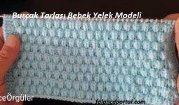 Burçak Tarlası Bebek Yelek Modeli 1