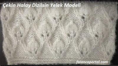 Çekin Halay Dizilsin Yelek Modeli