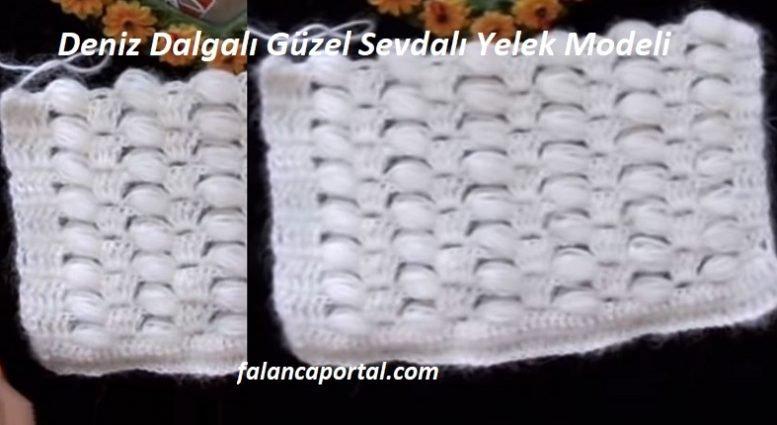 Deniz Dalgalı Güzel Sevdalı Yelek Modeli