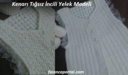 Kenarı Tığsız İncili Yelek Modeli 1