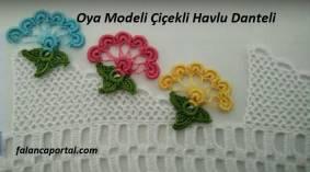 Oya Modeli Çiçekli Havlu Danteli