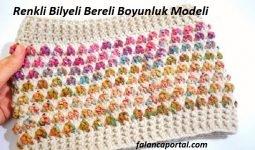 Renkli Bilyeli Bereli Boyunluk Modeli 1
