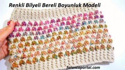 Renkli Bilyeli Bereli Boyunluk Modeli