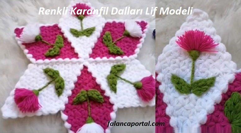 Renkli Karanfil Dalları Lif Modeli