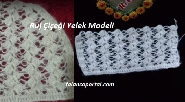 Ruj Çiçeği Yelek Modeli
