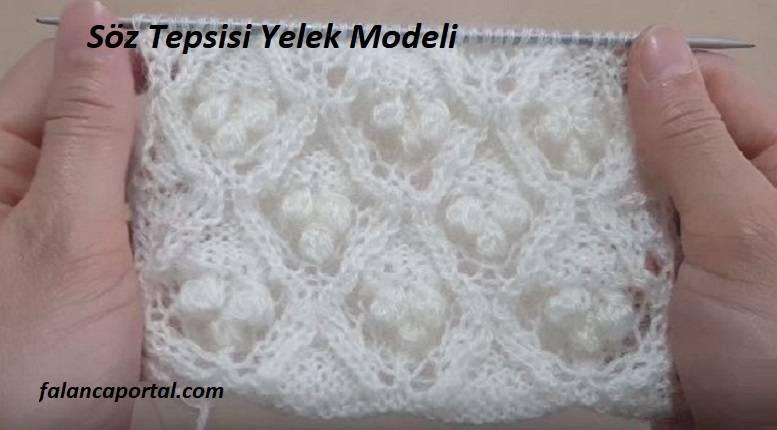 Söz Tepsisi Yelek Modeli
