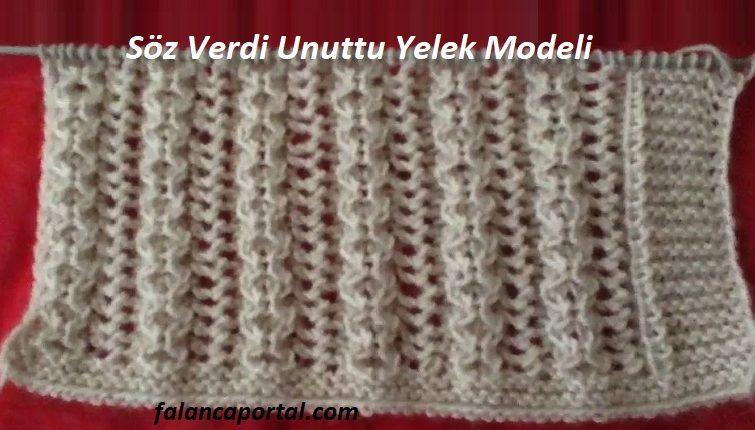 Söz Verdi Unuttu Yelek Modeli 1