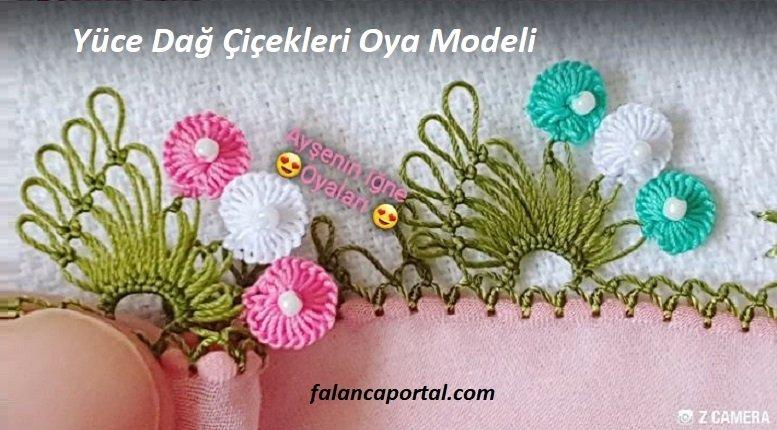 Yüce Dağ Çiçekleri İğne Oyası Modeli