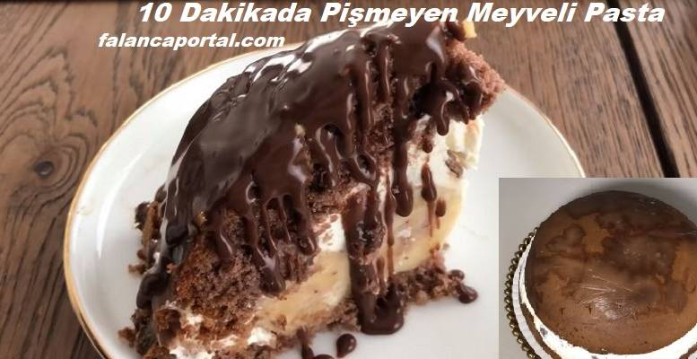 10 Dakikada Pişmeyen Meyveli Yaz Pastası 1