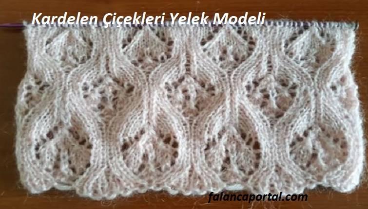 Kardelen Çiçekleri Yelek Modeli 1