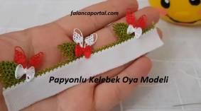 Papyonlu Kelebek İğne Oyası Modeli