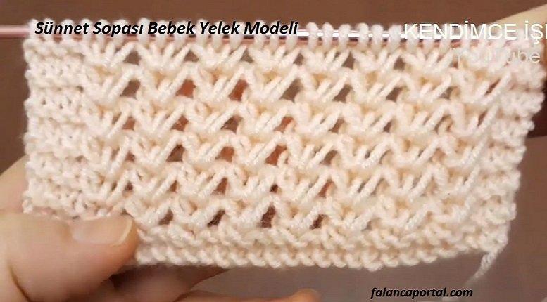 Sünnet Sopası Bebek Yelek Modeli