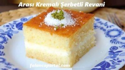 Arası Kremalı Şerbetli Revani