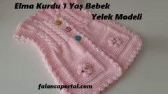 Elma Kurdu Bebek Yelek Modeli
