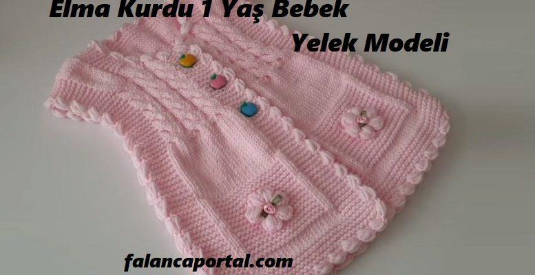 Elma Kurdu Bebek Yelek Modeli 1