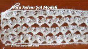 Kara Kalem Şal Modeli