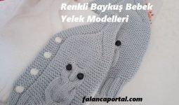 Renkli Baykuş Bebek Yelek Modelleri 1