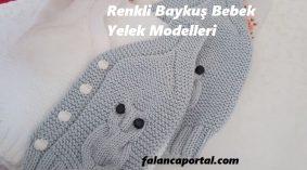 Renkli Baykuş Bebek Yelek Modelleri