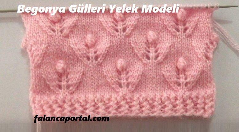 Begonya Gülleri Yelek Modeli