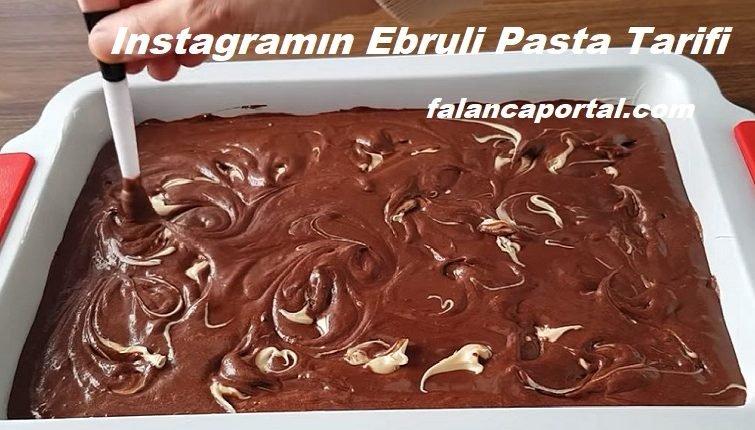 Instagramın Ebruli Pasta Tarifi 1