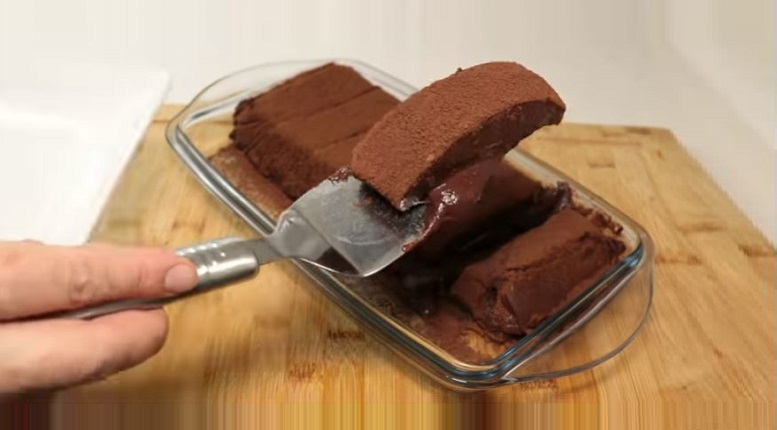 Dilim Dilim Kesme Sütlü Çikolata Tatlısı