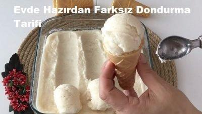 Evde Hazırdan Farksız Dondurma Tarifi