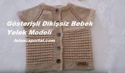 Gösterişli Dikişsiz Bebek Yelek Modeli 1