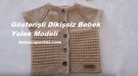 Gösterişli Dikişsiz Bebek Yelek Modeli