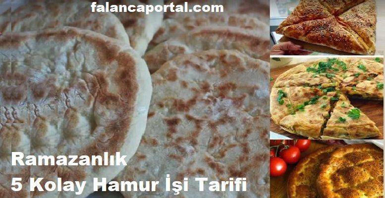 Ramazanlık 5 Kolay Hamur İşi Tarifi 1
