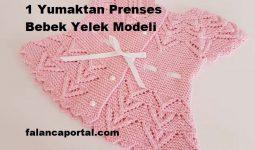 1 Yumaktan Prenses Bebek Yelek Modeli 1