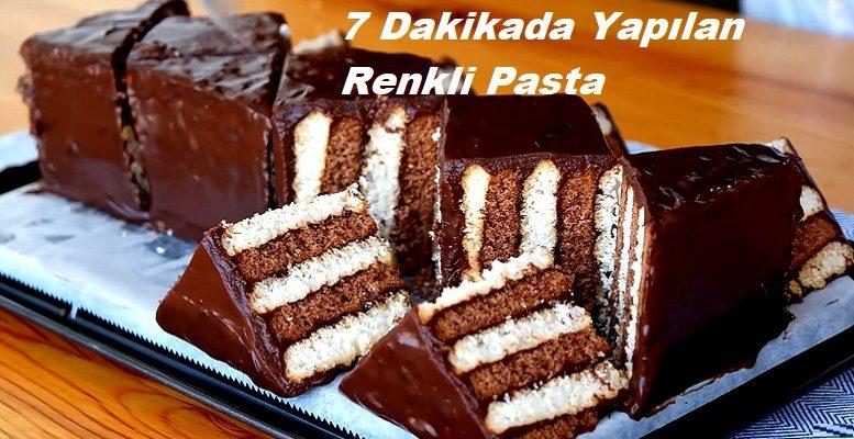 7 Dakikada Yapılan Renkli Pasta 1