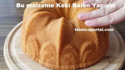 Bu Malzeme Keki Balon Yapıyor